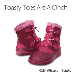 Toasty Toes Are A Cinch. Kids' Allcast II Boots.