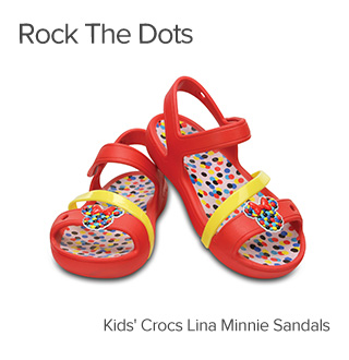 Rock the dots. Kids  Crocs Lina Minnie Sandals.