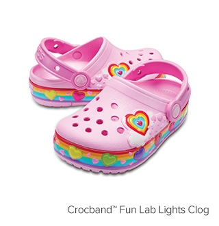 Crocband™ Fun Lab Lights Clog