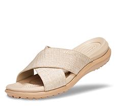 Women's Capri Shimmer Cross-Band Sandals