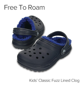 Free to Roam. Kids' Classic Fuzz Lined Clog.