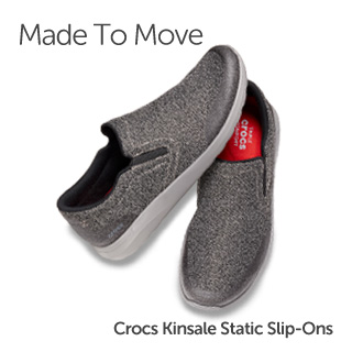 Made To Move. Crocs Kinsale Static Slip-Ons.