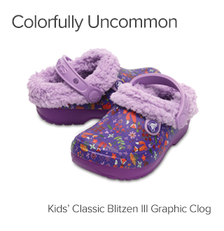 Kids Classic Blitzen III Graphic Clogs.