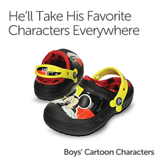 He'll Take His Favorite Characters Everywhere. Boys' Cartoon Characters.