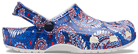Cobalt/Red, Paisley.