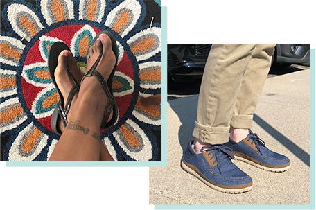 Women's Crocs Isabella Flip & Men's Santa Cruz Playa Lace-Up