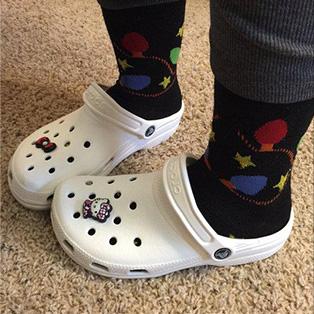Crocs White School Shoes
