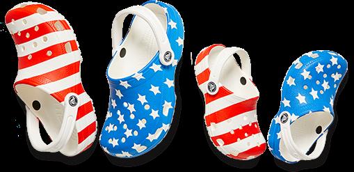 Classic American Flag Clog, Kids' Classic American Flag Clog.