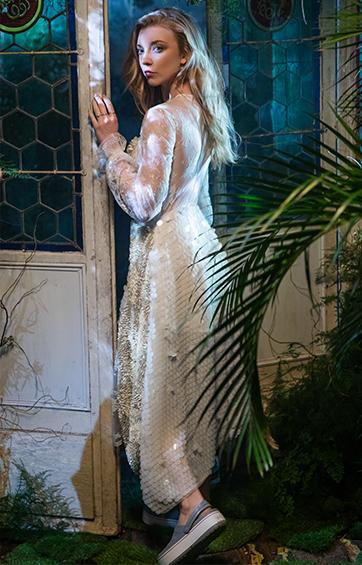 Natalie Dormer wearing Crocband™ Platform Clogs.