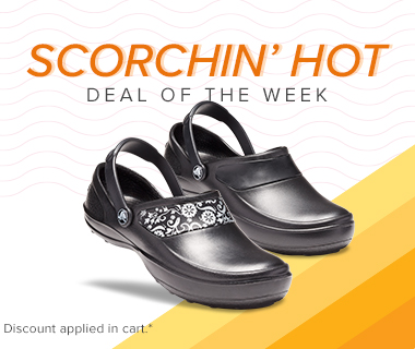25% off all Crocs at Work styles