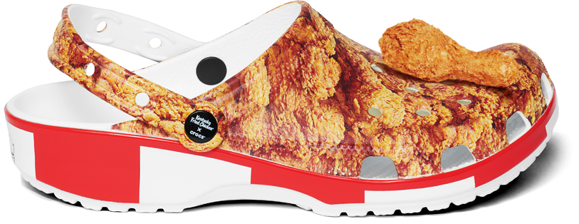 Profile view of Kentucky Fried Chicken® Classic Clog featuring a drumstick Jibbit™.