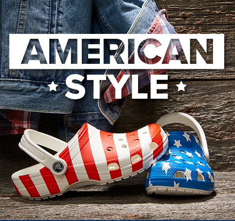 American Style, Classic American Flag Clog.