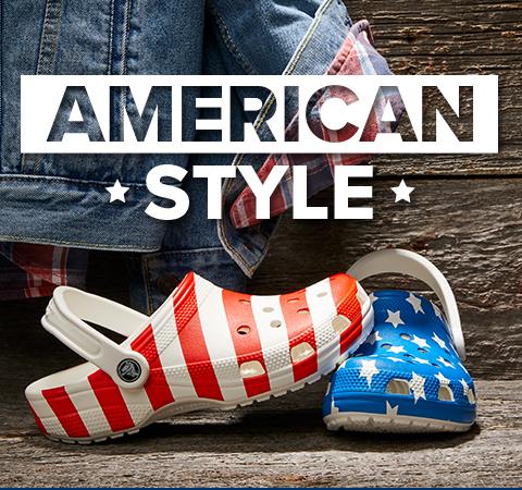 American Style, Classic American Flag Clog.