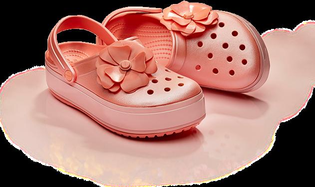 Crocband™ Platform Vivid Blooms Clogs.