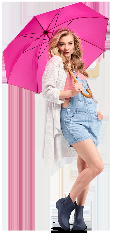 Actress Natalie Dormer wearing Navy Freesail Chelsea Rain Boots